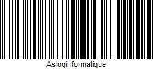 Code-barre Asloginformatique en code 128